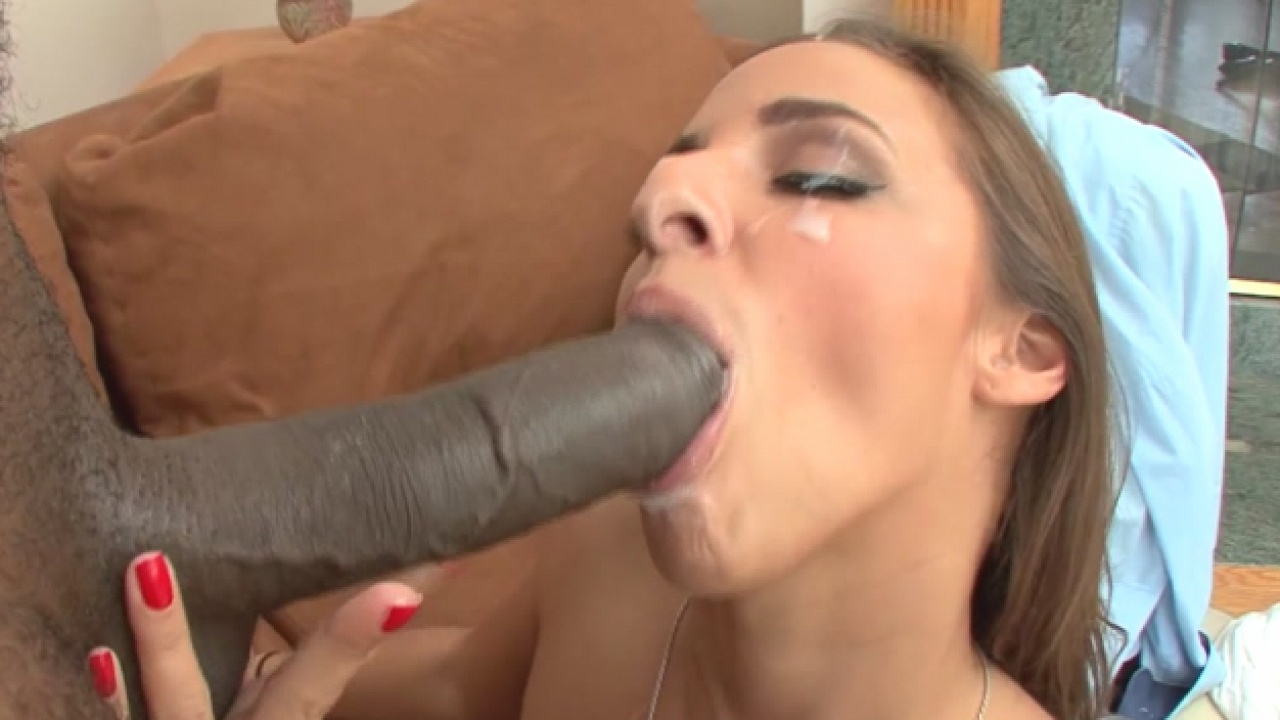 Big Black Cock For Super Hot Brunette