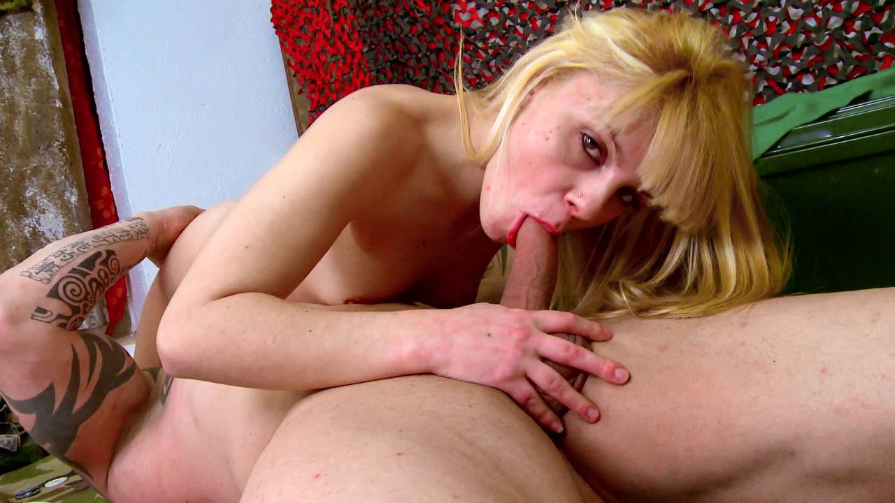 Blonde Slut Bent Over And Drilled