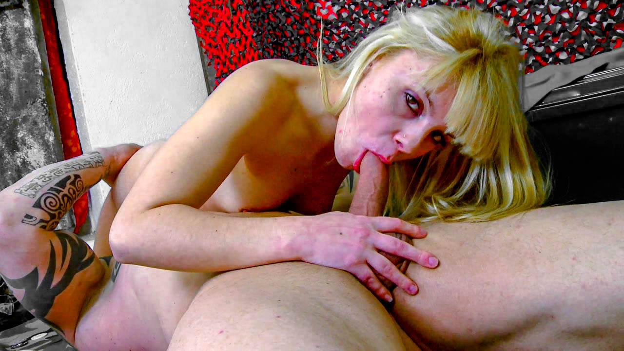Blonde Slut Bent Over And Drilled