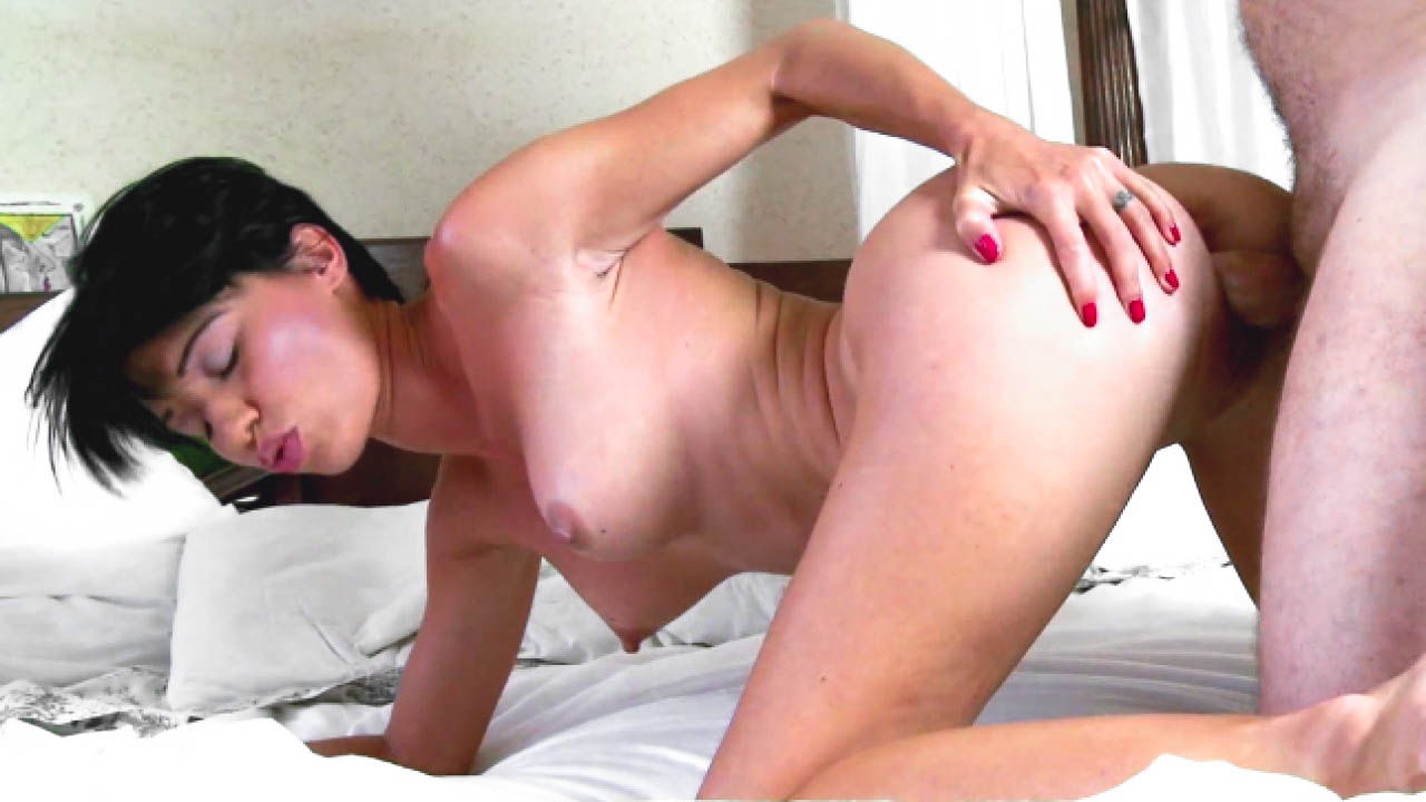 Cock Loving Brunette Gets Titties Covered In Jizz