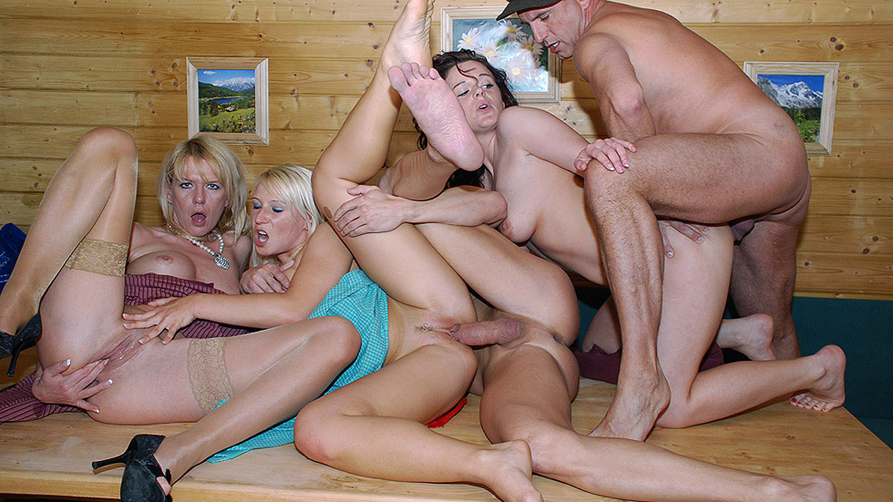 Double Penetration For Blonde In Group Sex Fun