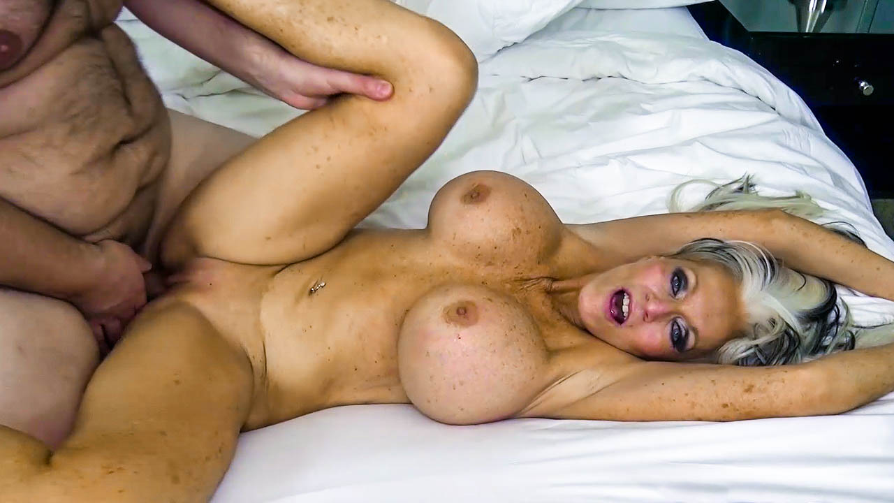 Fake Titted Granny Gets Fucked Hard