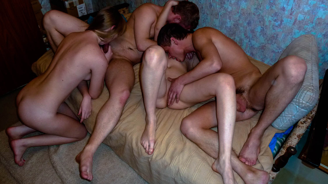 Four Teens Enjoy Hot Fucking