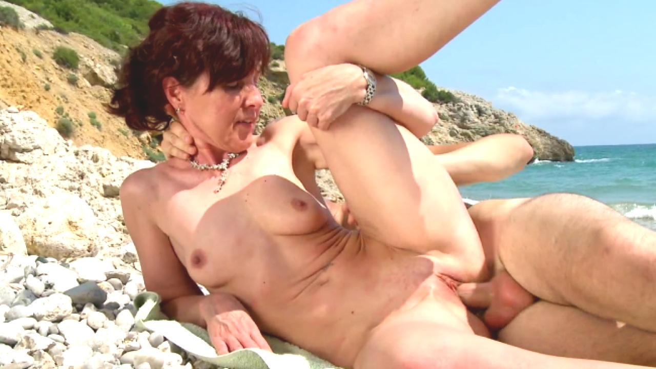 Hardcore Beach Banging For  Cock Hungry Slut