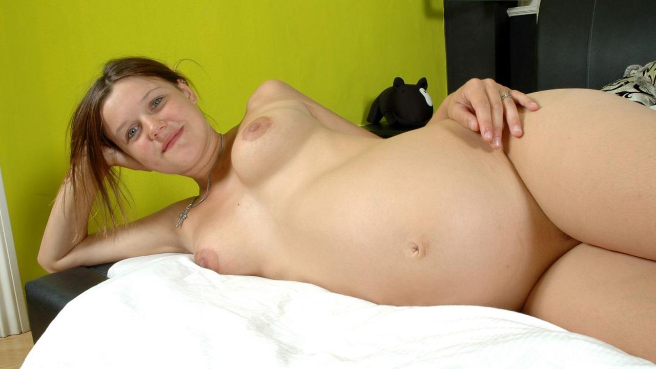 Horny Pregnant Czech Loves Her Dildo