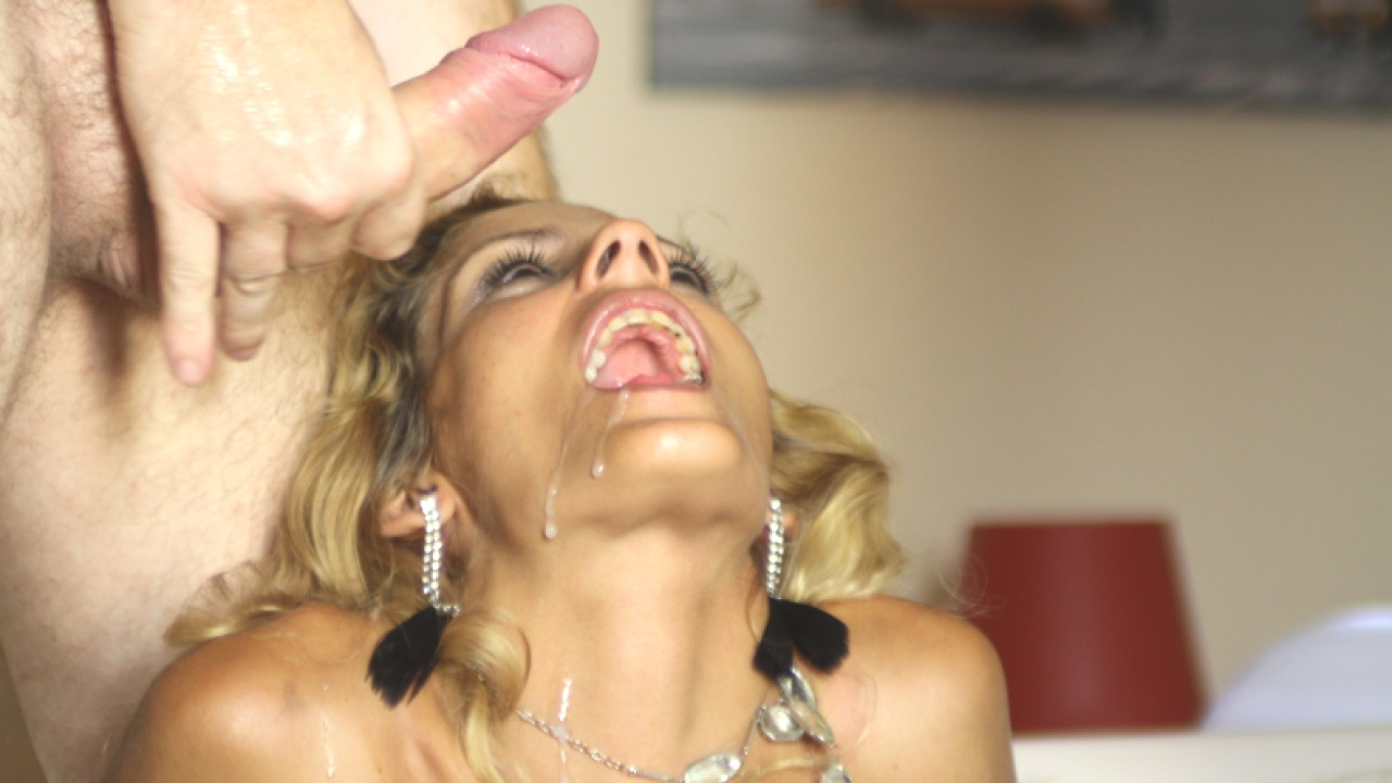 Hot Blonde Loves To Suck Cock