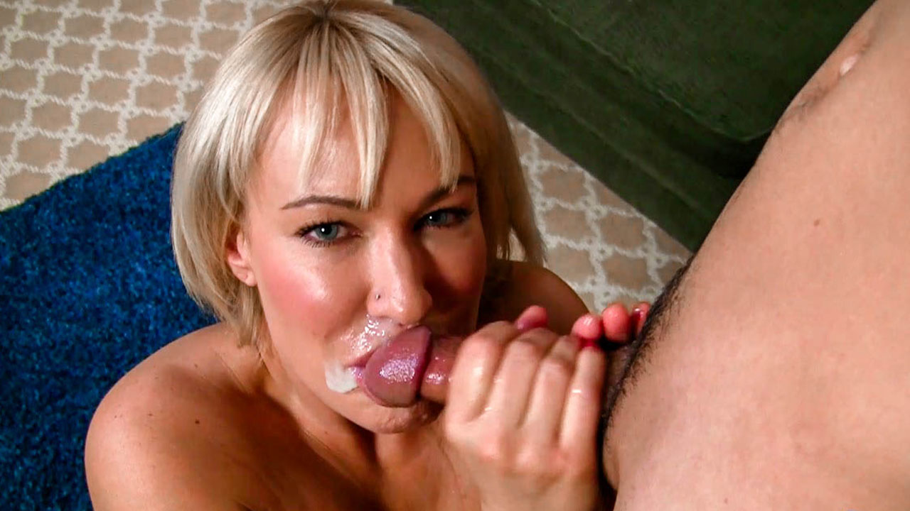 Hot Blonde Step Mom Milks Much Younger Son & Huge Messy Face Full Of Cum!