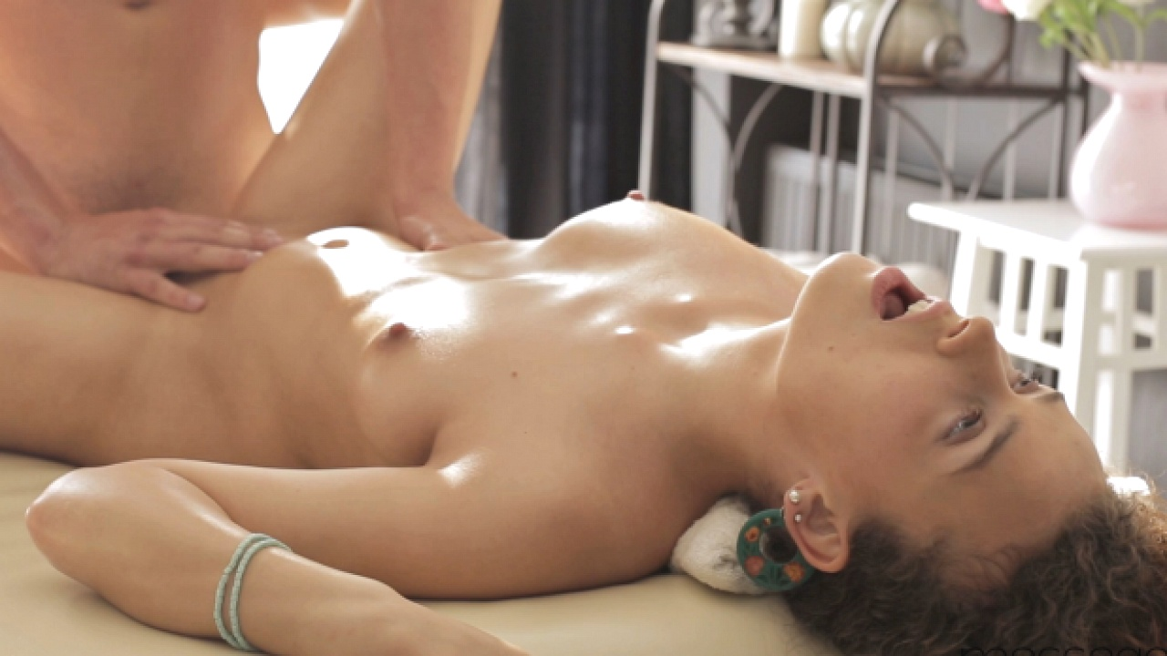 Loud Orgasm On Massage Table