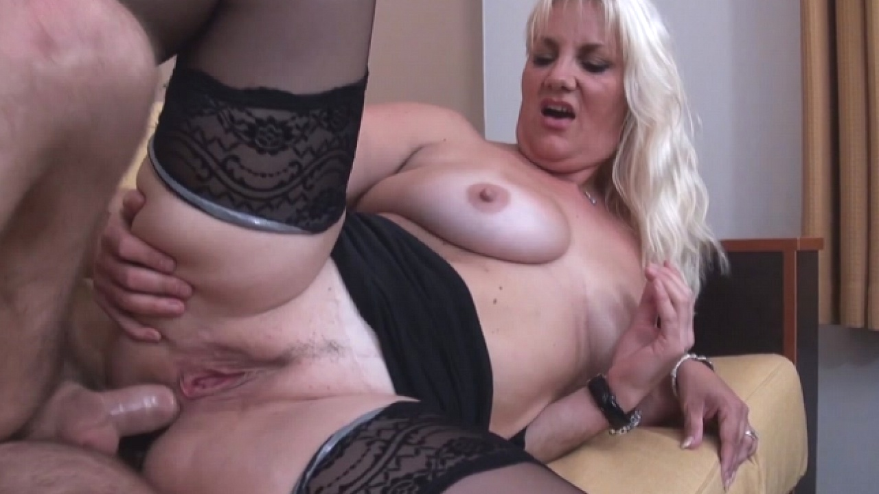 Mature Blonde's Ass Rocked