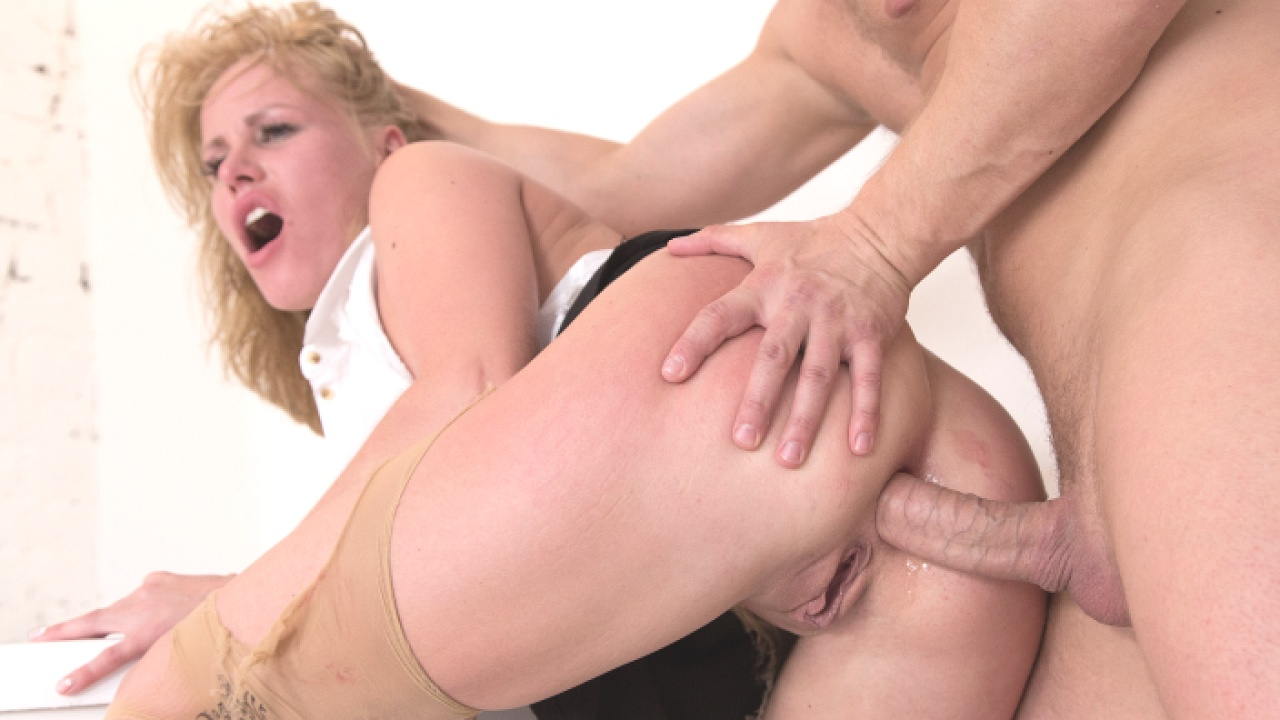 Office Slut Takes A Rough Fuck