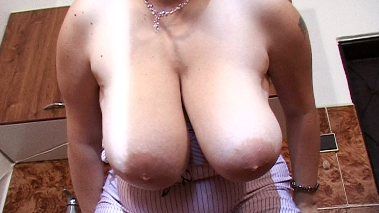 Pink Bra Big Babe Swings Huge Titties