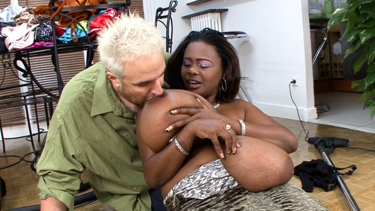 Sucking And Groping Ebony K Cup Boobs