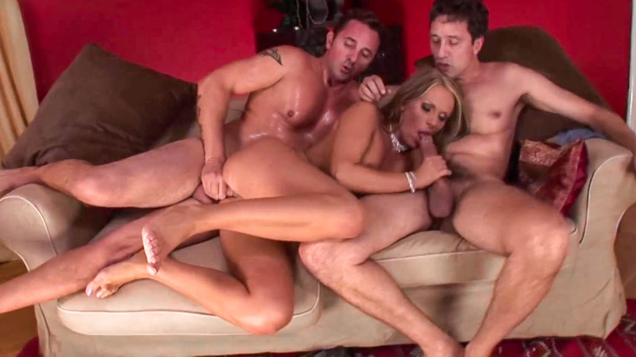 Vivien Fucks Two Cocks And Gets Double Penetration With David Perry And Ste